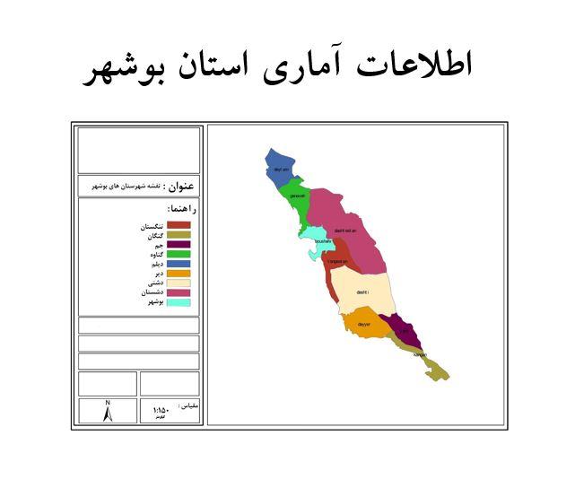 اطلاعات آماری استان بوشهر