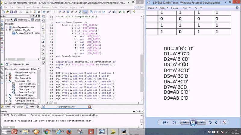 کد VHDL ، برای 7segment  در نرم افزار Quartus