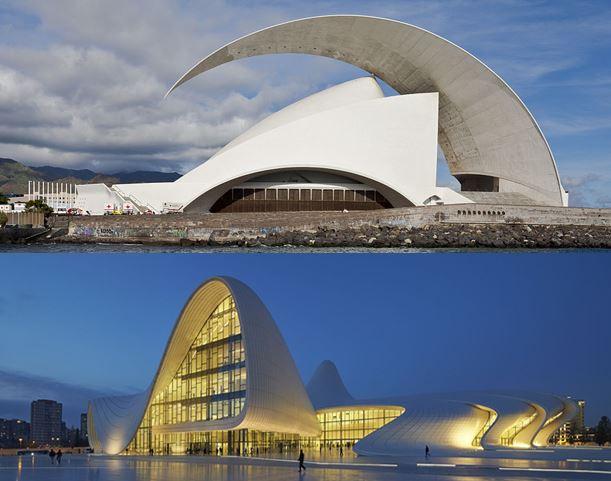 بررسی-بناهای-پوسته-بتنی---بنای-سالن-کنسرت-تنریف-و-مجموعه-فرهنگی-حیدر-الیوف