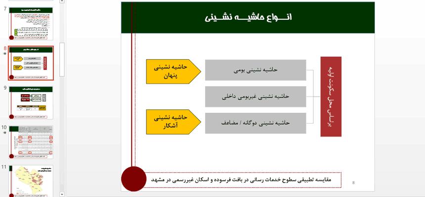 مقایسه-سطوح-خدمات-رسانی-در-محلات-حاشیه-ای-و-بافت-فرسوده-مرکزی-مشهد