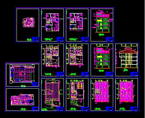 دانلود-رایگان-پلان-ساختمان-مسکونی-سه-طبقه-145-متری