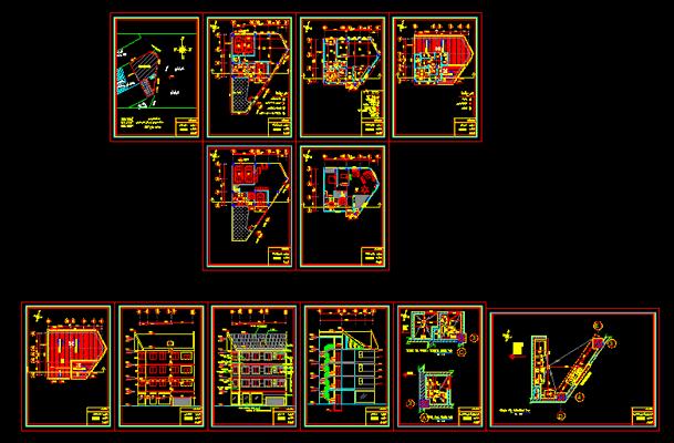 دانلود-پلان-مسکونی-سه-طبقه-128-متری-با-جزییات-اجرایی-کامل