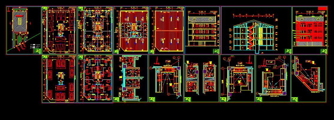 دانلود-پلان-ساختمان-مسکونی-سه-طبقه-320-متری-با-جزییات-اجرایی-کامل