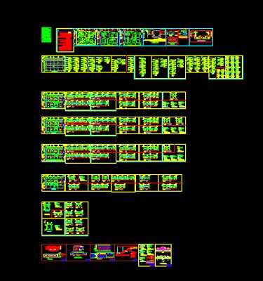 دانلود-پلان-ساختمان-مسکونی-سه-طبقه-230-متری-با-جزییات-اجرایی-کامل