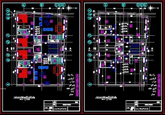 دانلود-رایگان-پلان-ساختمان-مسکونی-چهار-طبقه-روی-پیلوت-160-متری