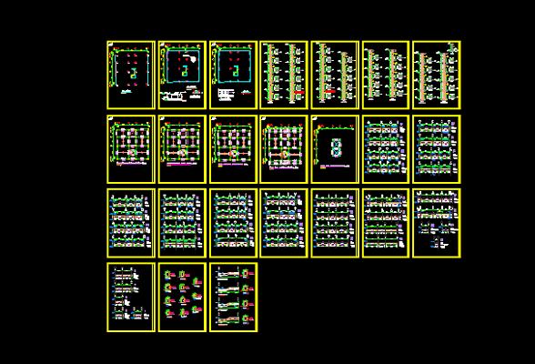 دانلود-پلان-مسکونی-چهار-طبقه-175متری-با-جزییات-اجرایی-کامل