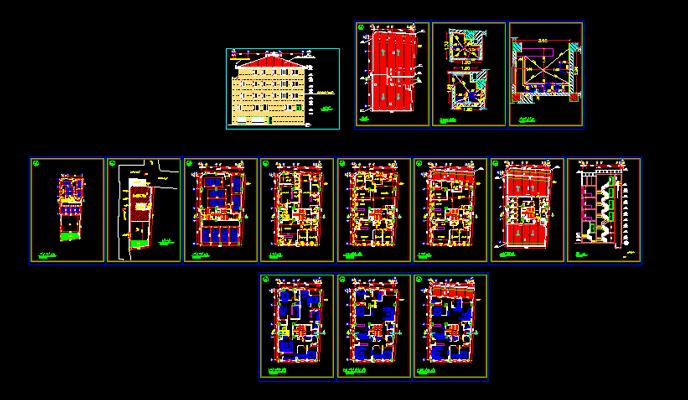 دانلود-پلان-مسکونی-چهار-طبقه-200-متری-با-جزییات-اجرایی-کامل