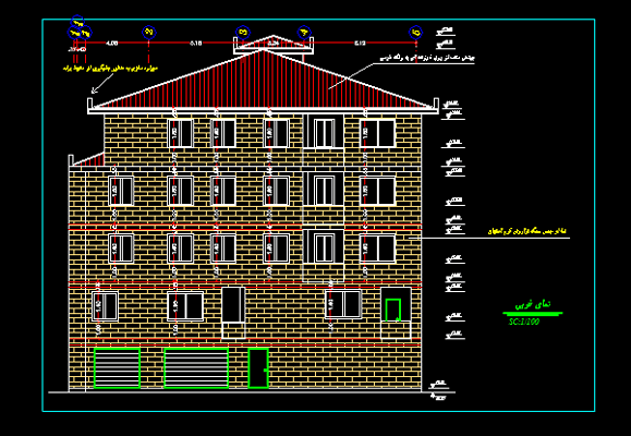 دانلود-رایگان-پلان-ساختمان-مسکونی-چهار-طبقه-200-متری